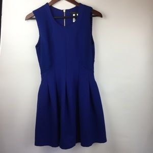 BCBG MaxAzria Womens M Cobalt Blue Fit Flare Dress